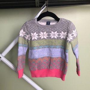 Baby Gap Fare Isle Sweater Size 3T